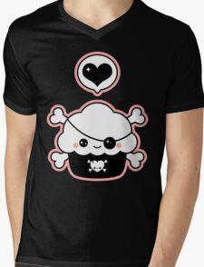 Cute Pirate Cupcake Mens V-Neck T-Shirt