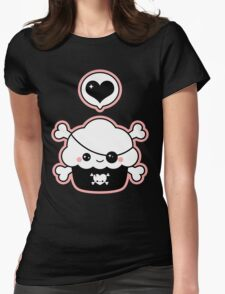 Cute Pirate Cupcake Womens Fitted T-Shirt