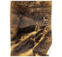 Below R.B. Ricketts Falls (faux vintage) Poster