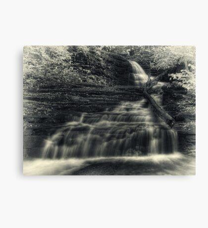 Huron Falls (faux vintage) Canvas Print