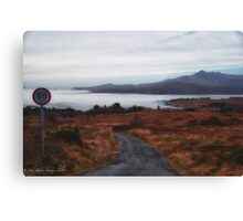 Typical road near Burren, Ireland Canvas Print