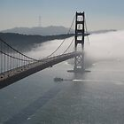Misty morning on Golden Gate Bridge , San Francisco by LynnEngland