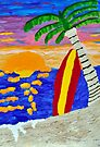 Surfer Sunset by Kim McClain Gregal