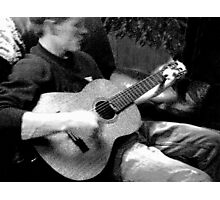 Guy with Guitar Photographic Print