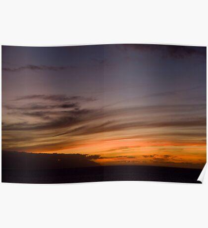 Sunset Swirls Poster