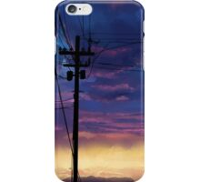 purple sky telephone wires iPhone Case/Skin