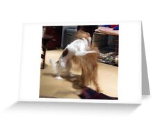 Fiona attacking Horatio Greeting Card
