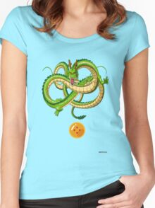 DBZ - Shenron and 4-star ball (renewal) Women's Fitted Scoop T-Shirt