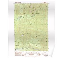 USGS Topo Map Oregon Elkhorn 279793 1985 24000 Poster