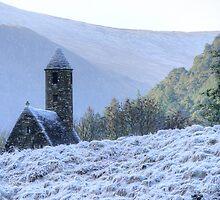 St.Kevin's Church, Glendalough by Julian Easten