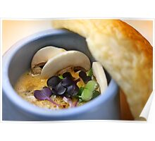 Champignon Soup With Pastry Poster