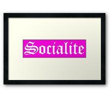 Mean Girls - Socialite Framed Print