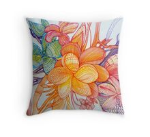 abstract frangi panni tree  Throw Pillow