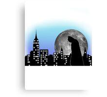 Batman in the city Canvas Print