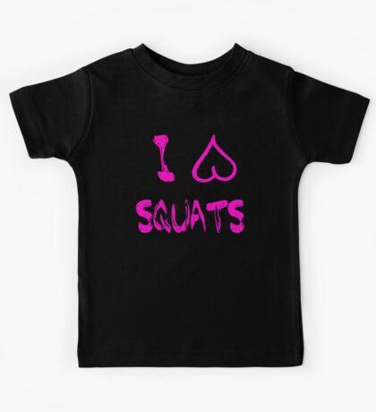 I Heart Squats! Kids Tee