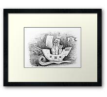 Away we sail  Framed Print