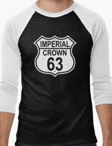 Highway Route Sign 1963 Imperial Crown Image On Front And Back Men's Baseball ¾ T-Shirt