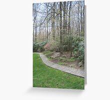 Trees on path Greeting Card