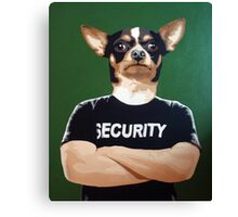 Barry the security guard Canvas Print