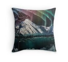 Northern Lights in Alaska Throw Pillow