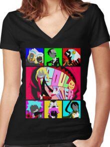 Let's Get Neon (Soul Eater) Women's Fitted V-Neck T-Shirt