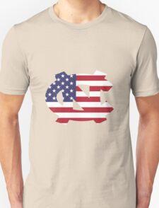 UNC American Flag Unisex T-Shirt