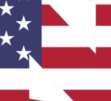 UNC American Flag Sticker