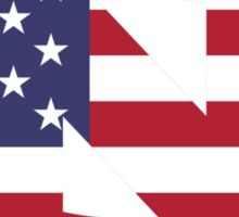 UNC American Flag Sticker