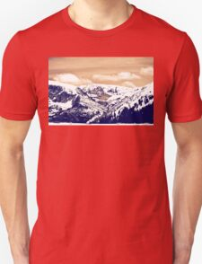 Snowy Mountains in Colorado Unisex T-Shirt