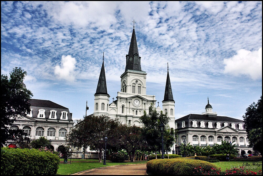 Old Cathedral in Jackson Square, New Orleans by luckylarue