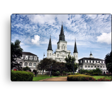 Old Cathedral in Jackson Square, New Orleans Canvas Print