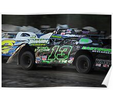 3 wide Late Models  Poster