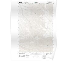 USGS Topo Map Oregon Peterson Ridge 20110811 TM Poster