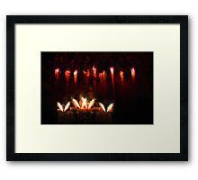 DisneyLand Castle Fireworks Framed Print