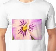 Purple And White Pansy Macro Unisex T-Shirt