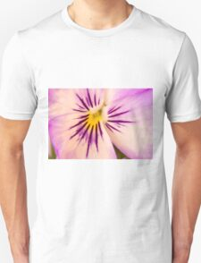 Purple And White Pansy Macro T-Shirt