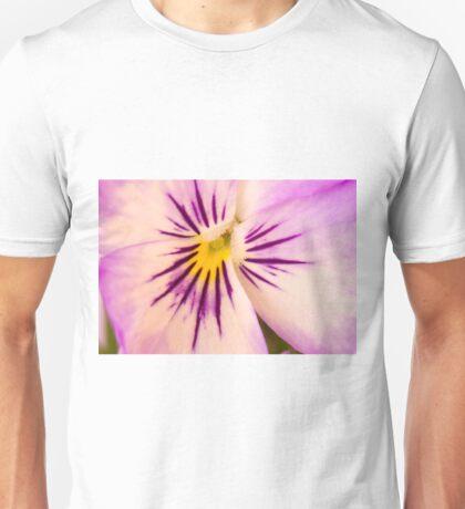 Purple And White Pansy Macro Unisex T-Shirt