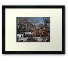 Snowy December Morn Framed Print