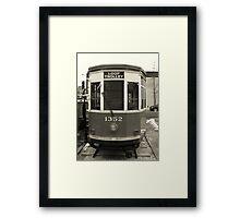 Loop Trolley Framed Print