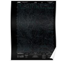 USGS Topo Map Oregon Cleveland Ridge 20110715 TM Inverted Poster