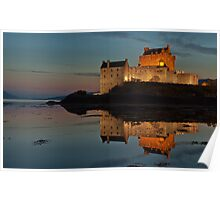 Eilean Donan By Night, close up Poster
