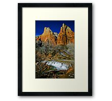 Zion Canyon The Patricarchs Framed Print
