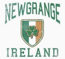 Newgrange, Ireland with Shamrock One Piece - Short Sleeve