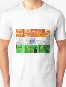 Indian Flag With Women Of India Unisex T-Shirt
