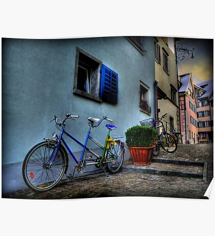 A Bicycle Built For Two Poster