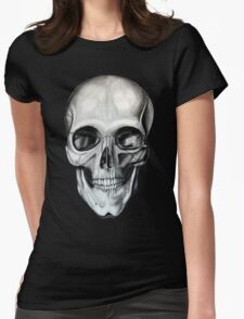 Charcoal Skull Womens Fitted T-Shirt
