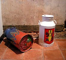 Explosive milk churns! by patjila