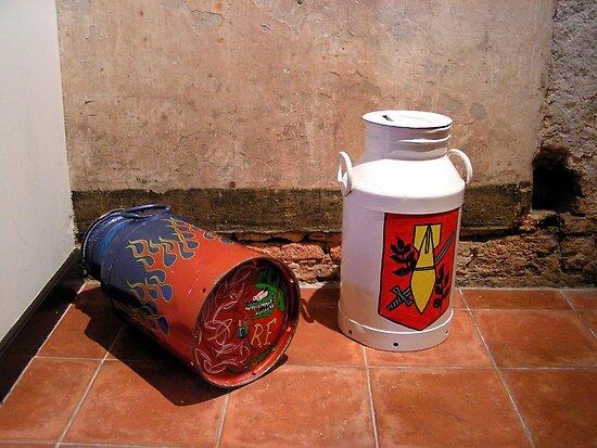 Explosive milk churns! by patjila