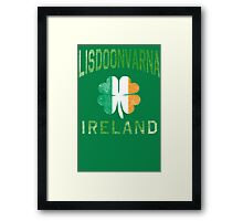 Lisdoonvarna, Ireland with Shamrock Framed Print