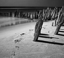 Footprints in the sand by Randall Nyhof